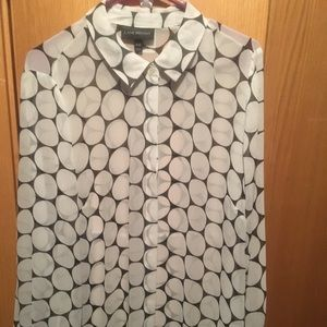 Lane Bryant button up polka dot blouse size 18/20